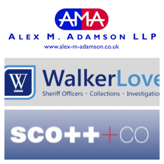 Council Tax Arrears Scotland Sheriff Officers Stirling Park Walker Love Alex Adamson Scott Co